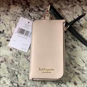 NWT Authentic Kate Spade saffiano leather Lanyard